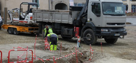 Travaux sur le parking